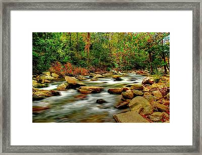 Framed Print featuring the photograph Mountain Stream by Ed Roberts