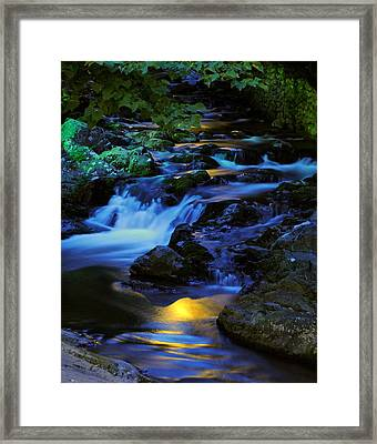 Mountain Stream Framed Print by Frozen in Time Fine Art Photography
