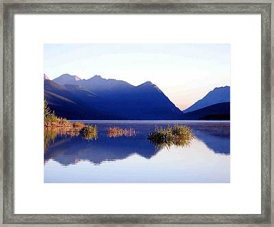 Mountain Sunrise Framed Print by Gerry Bates