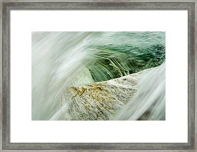 Mountainriver In Lavertezzo, Tessin Framed Print