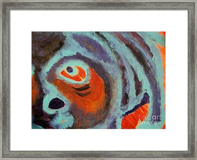 Mr Pugglesworth Aint Happy Framed Print by Laurette Escobar