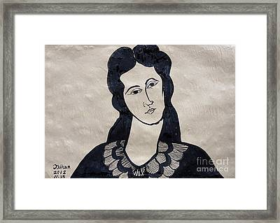 Ms. M Framed Print by Taikan Nishimoto