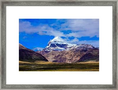 Mt Kailash. Framed Print