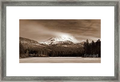 Mt. Lassen Framed Print