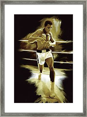 Muhammad Ali Boxing Artwork Framed Print
