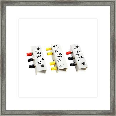 Multipurpose Meter Shunts Framed Print by Science Photo Library