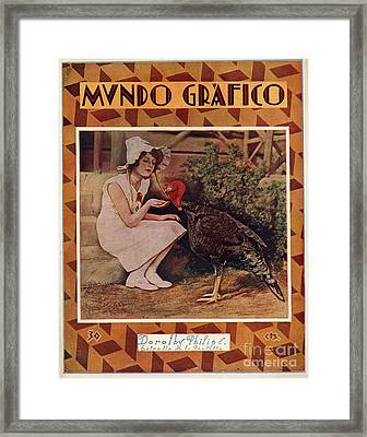 Mundo Grafico 1928 1920s Spain Cc Framed Print by The Advertising Archives