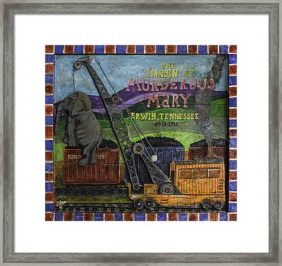Framed Print featuring the painting Murderous Mary - Hung In 1916 by Eric Cunningham