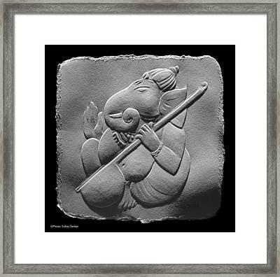 Musical Ganesha Framed Print by Suhas Tavkar