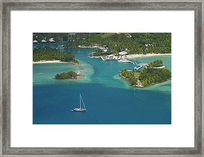 Musket Cove Island Resort, Malolo Framed Print by David Wall