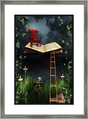My Book Said Come Fly With Me Framed Print by Paula Ayers