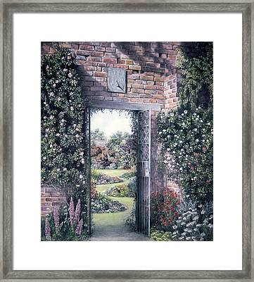 Framed Print featuring the painting My Secret Garden by Rosemary Colyer