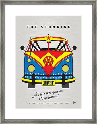 My Superhero-vw-t1-wonder Woman Framed Print by Chungkong Art