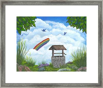 My Wishing Place Framed Print by Sheri Keith