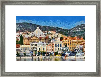 Mytilini Port Framed Print