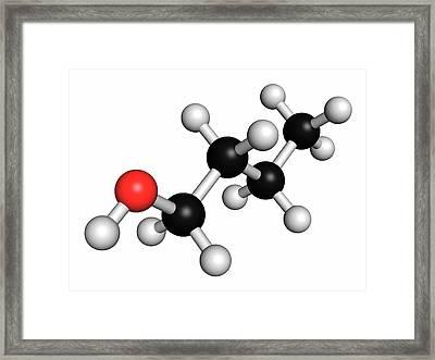 N-butanol Molecule Framed Print by Molekuul