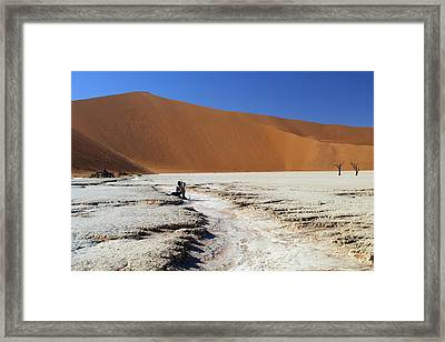 Framed Print featuring the photograph Namibia Dunes  by Riana Van Staden