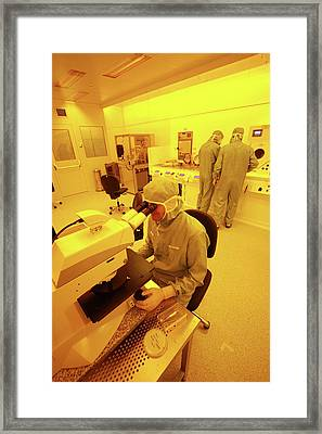 Nanotechnology Centre Framed Print by Ibm Research