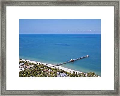 Naples Pier Framed Print by Patrick M Lynch