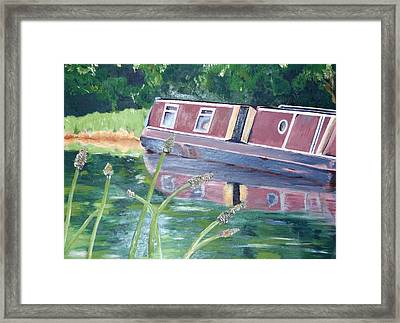 Narrowboat Framed Print