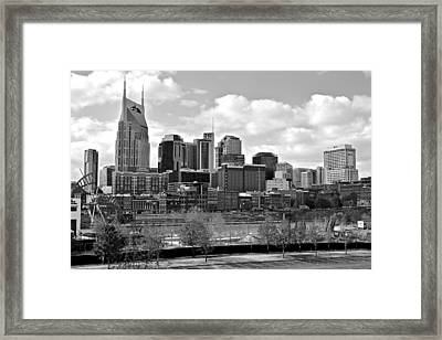 Nashville Black And White Framed Print by Frozen in Time Fine Art Photography