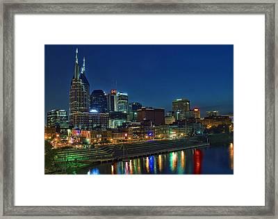 Nashville Cityscape Framed Print by Patrick Collins