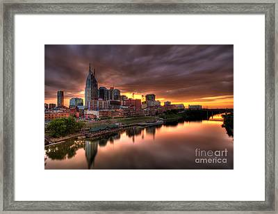 Nashville Tn Skyline  Framed Print