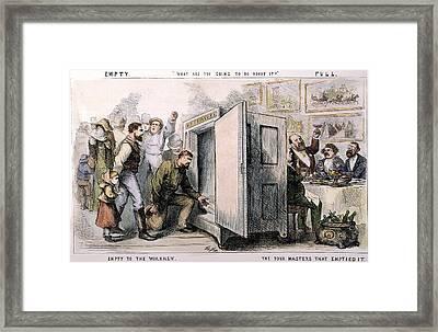 Nast Tweed Corruption Framed Print by Granger