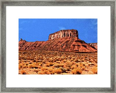 Framed Print featuring the painting National Navajo Tribal Park by Bob and Nadine Johnston