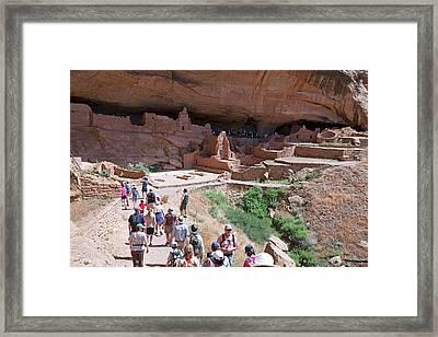 Native American Cliff Dwellings Framed Print