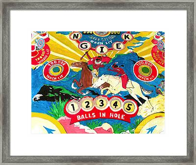 Native Pinball Framed Print by Beth Saffer