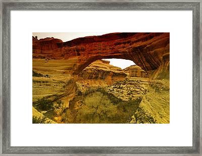 Natural Bridge Framed Print by Jeff Swan