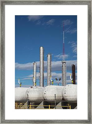 Natural Gas Processing Plant Framed Print