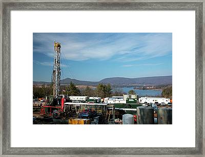 Natural Gas Well Framed Print