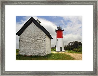 Nauset Lighthouse Framed Print by Andrea Galiffi