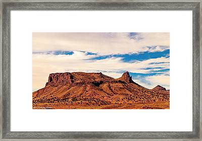 Navajo Nation Series Along 87 And 15 Framed Print by Bob and Nadine Johnston
