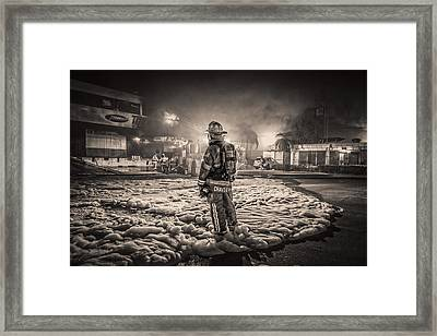 2 Nd Alarm Fire Framed Print by Scott Mullin