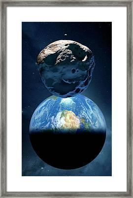 Near-earth Asteroid Framed Print by Detlev Van Ravenswaay
