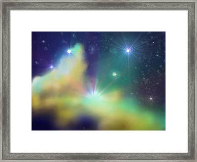 Nebula Framed Print by Ricky Haug