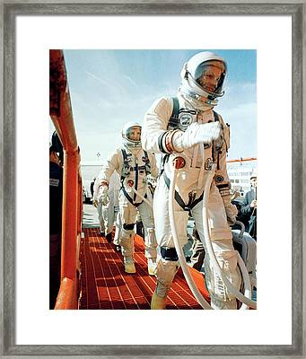 Neil Armstrong And David R. Scott In 1966 Framed Print