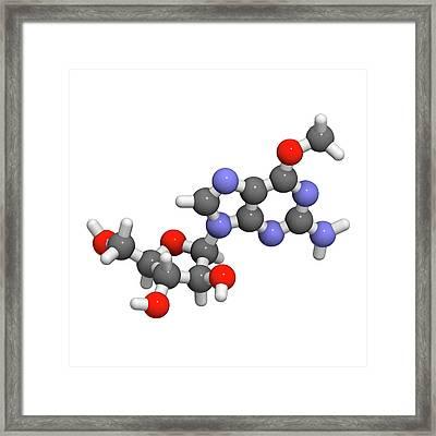 Nelarabine Leukemia Drug Molecule Framed Print