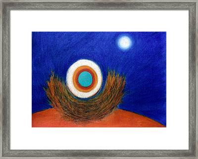 Nesting Moon Framed Print