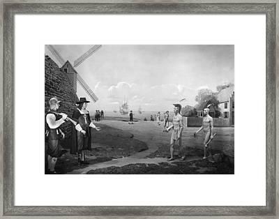 New Amsterdam, 1660 Framed Print by Granger