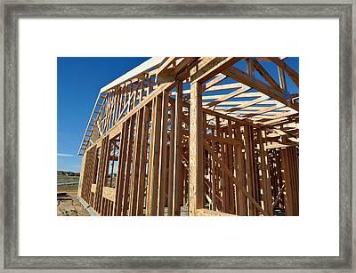 New Home Under Construction Framed Print