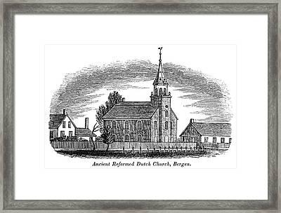 New Jersey Church, 1844 Framed Print by Granger