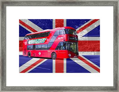 New London Red Bus Framed Print by David French