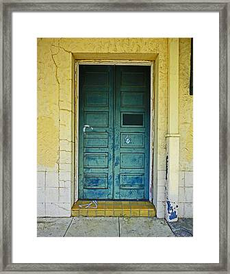 New Orleans Door Framed Print