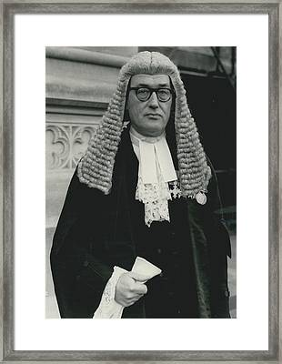 New Queen�s Counsel Sworn - In At House Of Lords Framed Print by Retro Images Archive