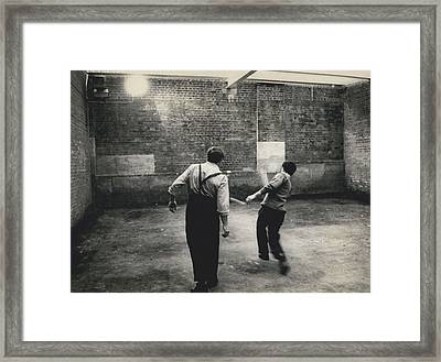 New Security Block At Parkhurst Prison Framed Print by Retro Images Archive