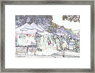 New West Fest Street Fair Framed Print by Annie Johnson
